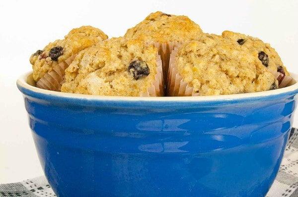 Blåbærmuffins med crumbletopping