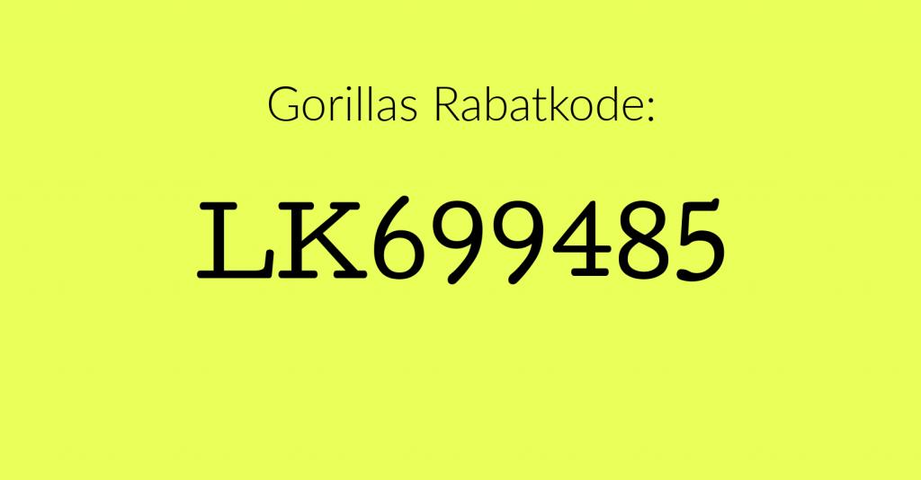 gorillas rabatkode